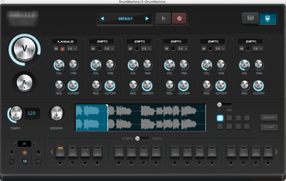 drum machine screenshot